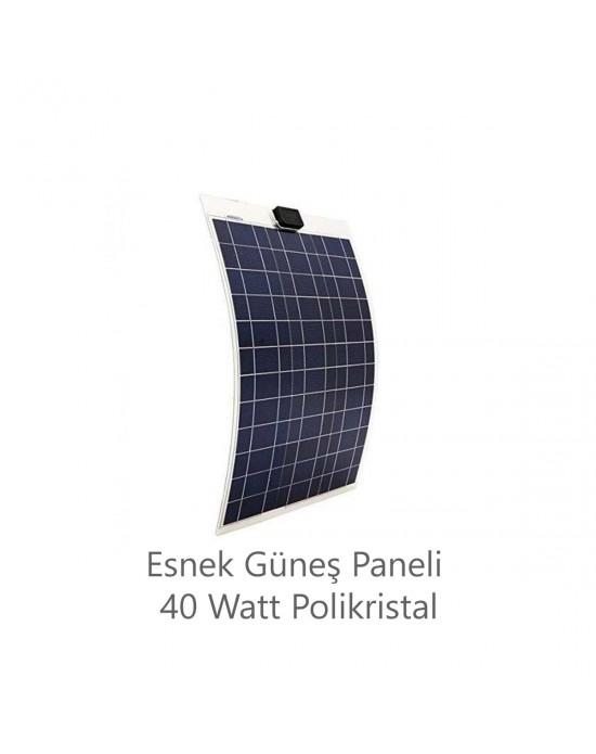 ESNEK GÜNEŞ PANELİ 40 WATT POLİKRİSTAL