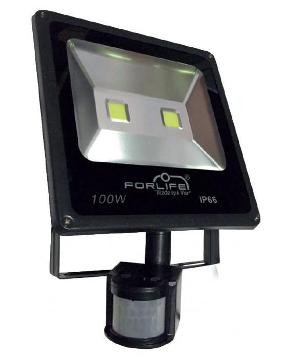 Forlife 100 Watt Sensörlü Beyaz Işık LED Projektör